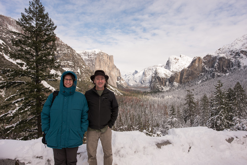 Yosemite visit between snow storms in 2017