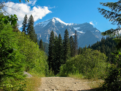 This is the first view you get of the mountian from the trail.