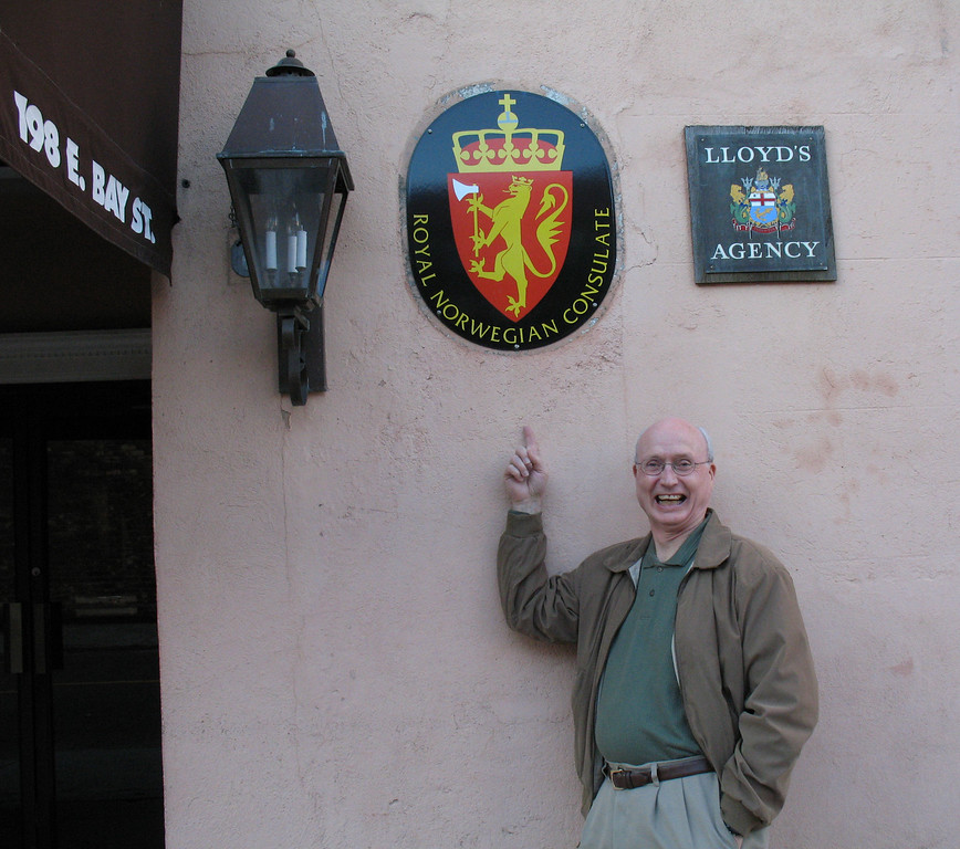 My FBN was delighted to find a Norwegian Consulate!<br /> Charleston, SC - November 23, 3006