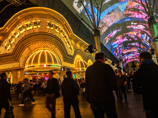 After the game we hit up Fremont Street to see it lit up