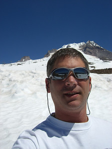 Self portrait, after returning to the Silcox hut!