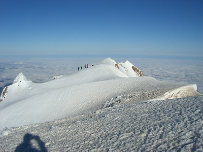 """From the summit looking west. The climbing party in this shot just came up through the """"Old Shute"""""""