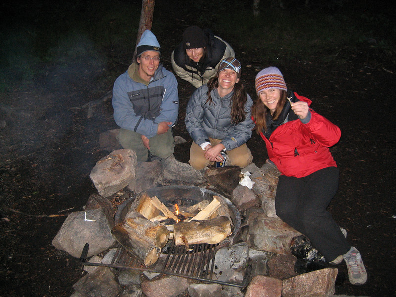 Eric, Joseffa, Kacey & Kre and the fire that didn't want to start
