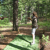 Disc golf at Bruce & Jody's in Green Mountain Falls...