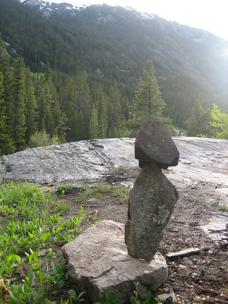 Eric's rock balancing skills on display!