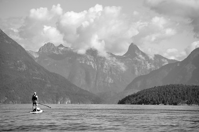 Stand Up Paddleboard (SUP) expedition to the Copeland Islands and Desolation Sound marine parks. Sunshine Coast, Lund, British Columbia