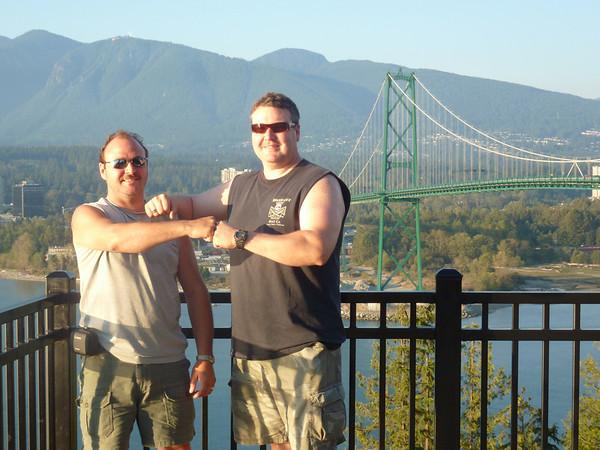 Dave & Darren Vancouver CA Stanley Park Aquarium & Golfing 8-17-2010