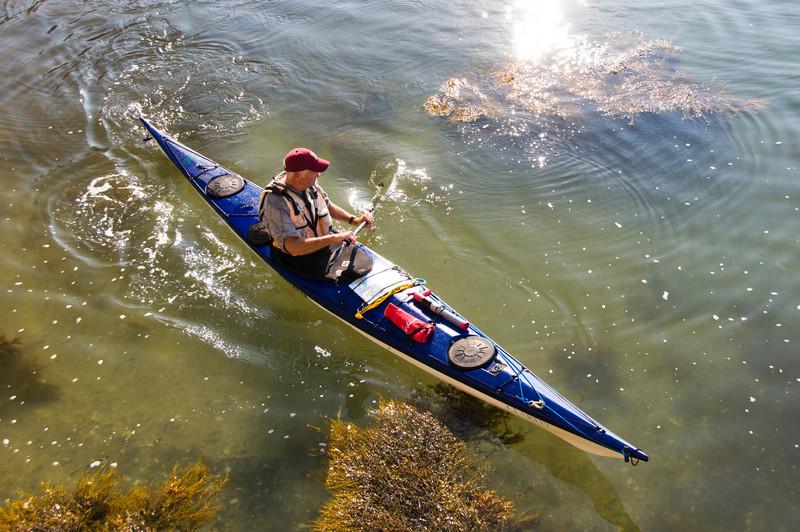 Doug paddles around Hell's Half Acre Island