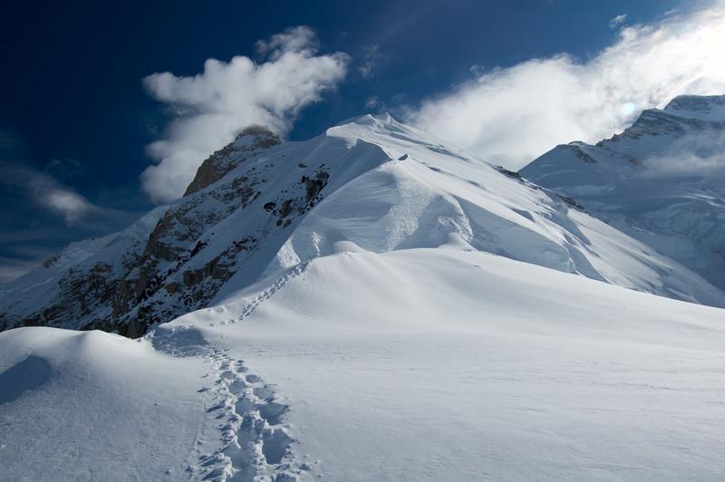 Looking at the climb up Karsten's Ridge