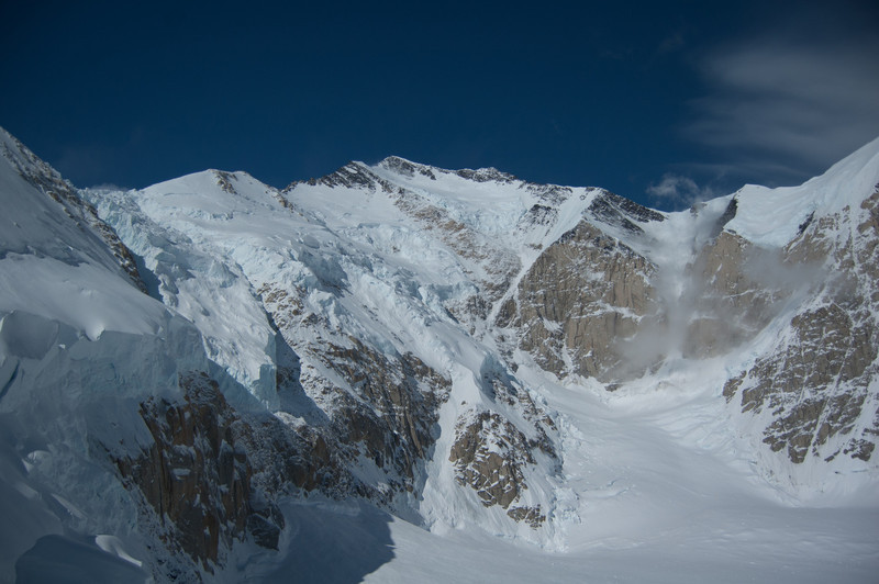 The Muldrow Glacier after an avalanche.