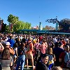 Lots of people waiting for the Friday 4pm entrance at California Adventures