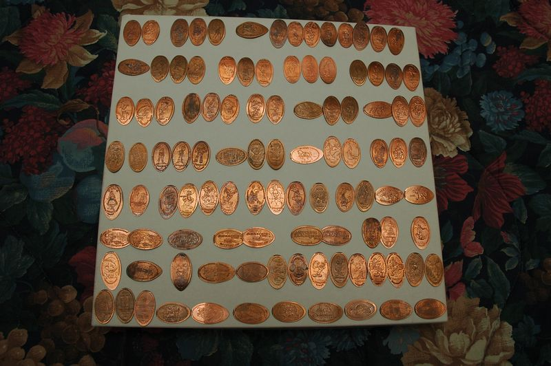 Pre-Trip Disneyland smashed penny collection