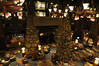Grand Californian lobby and fireplace on a Monday evening
