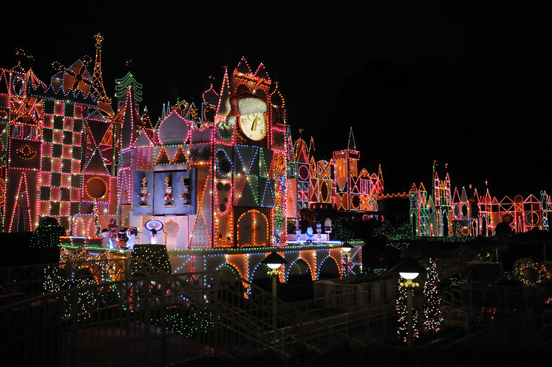 It's a Small World all decked out for the holidays