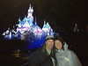 Katy's iPhone picture of us with Sleeping Beauty's Castle in the background