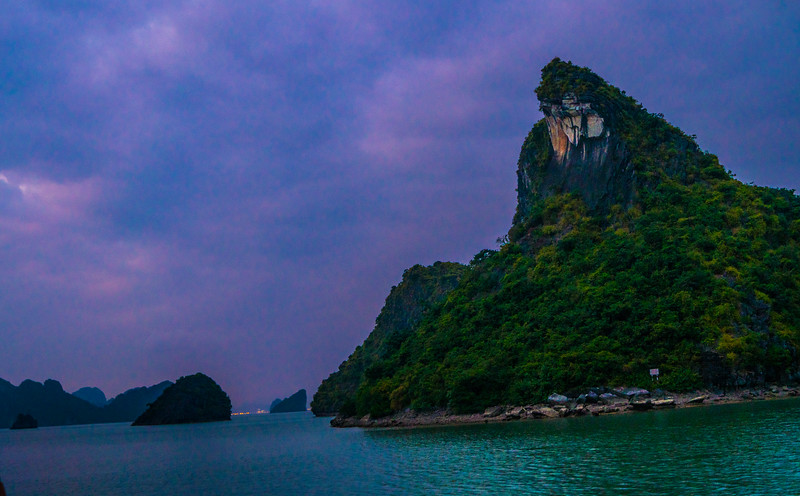 Over here. Ha Long Bay in the distance