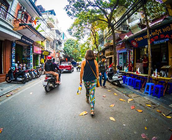 Next morning, walking to the Vietnamese Women's Museum