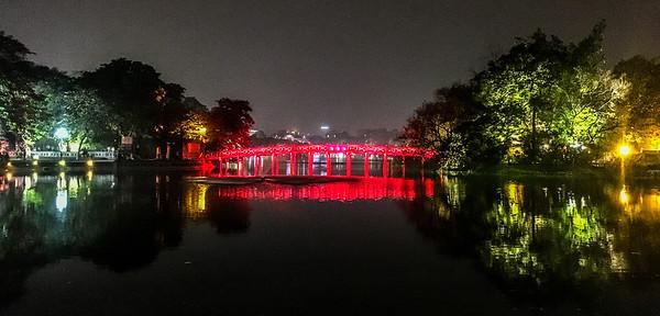 Back in Hanoi at the Lake.
