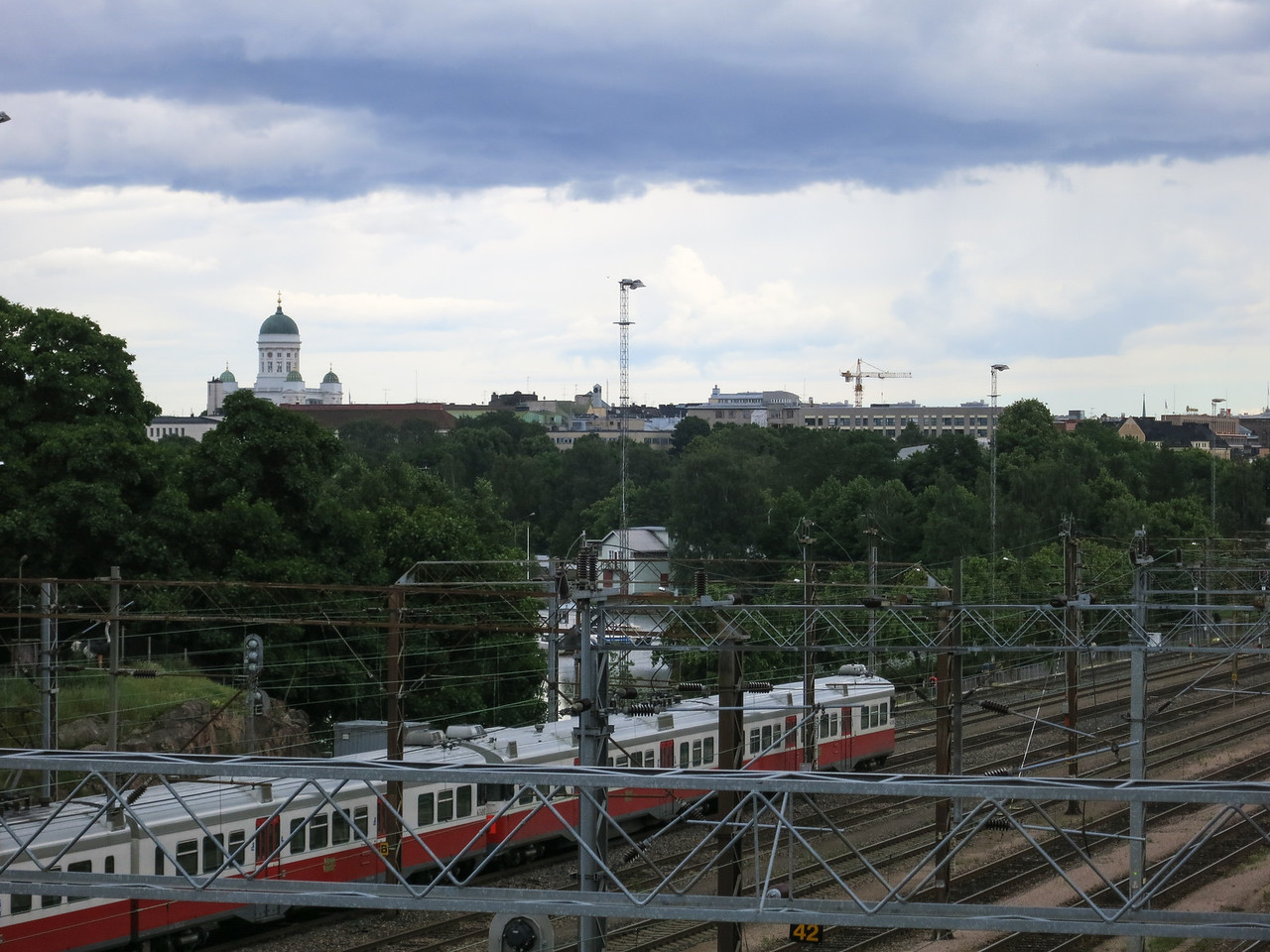 The Helsinki Lutheran Cathedral rises above the city.