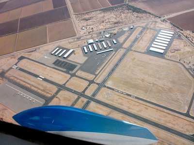 Flying over Marana Airport just north of Tucson.