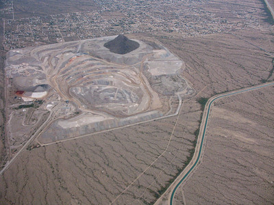 Another shot of the mine near Tucson.