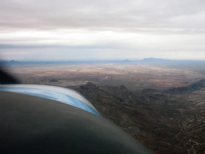 Left downwind departure from Tucson International, runway 11L.
