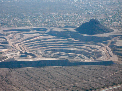 Another pit mine just north of Tucson.