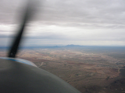 You can almost see the Phoenix Valley through the light showers on the way back.
