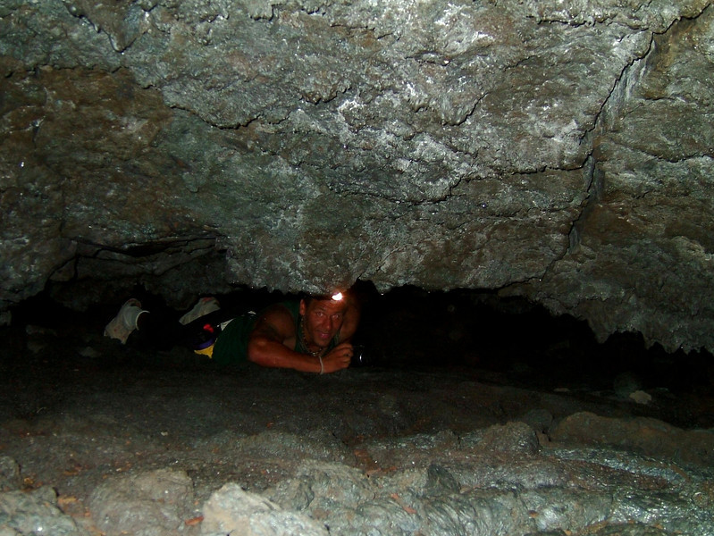 <h3>16. Crawling Through A Lava Tube</h3> <br> When a fellow meets a fellow<br> In the middle of the ground,<br> You can hold it almost certain<br> That someone must turn around,<br> And giving way retreat until<br> A spacious cavern's found...<br> It helps prevent the awkwardness<br> There is in going round<br> Within the limitations when you're<br> So far down.<br>