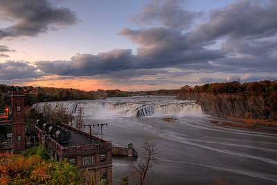 Sunset, Cohoes Falls