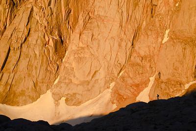 Climbing Mount Whitney. Sequoia National Park, California, USA