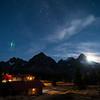 Moonrise at Assiniboine Lodge