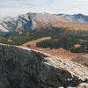 Assiniboine Pass from the top of Jonesy's Peak