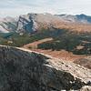 Assiniboine Pass from the top of Jonesy's Peak