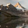 Assiniboine sunrise reflected in Magog Lake