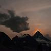 Moon behind Mount Assiniboine