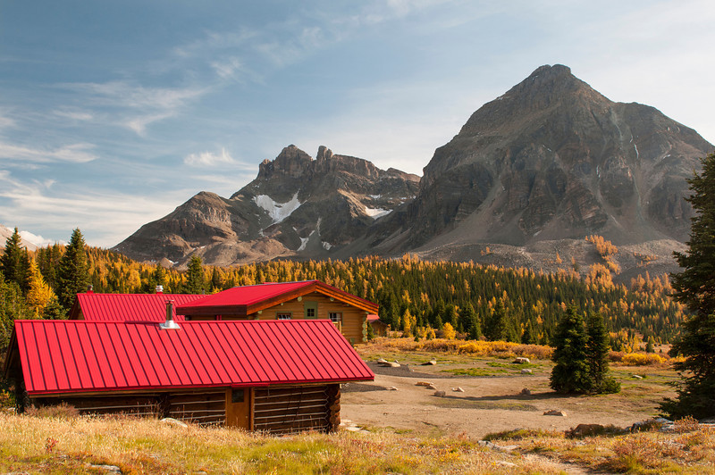 Assinboine Lodge and Naiset Peak
