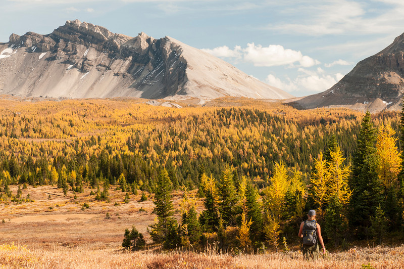 Hiking back towards to lodge
