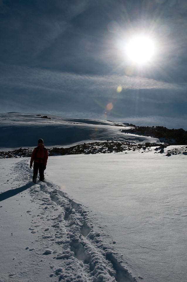 Snowy Walking in September