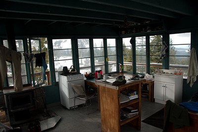 Looking NW. notice cothes drying over stove and window open because it was getting hot inside!