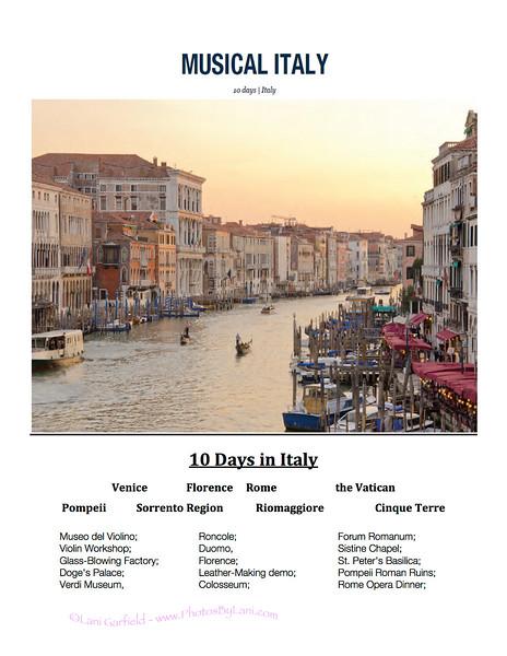 Italy Tour Meeting #1