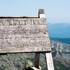 Katahdin summit sign