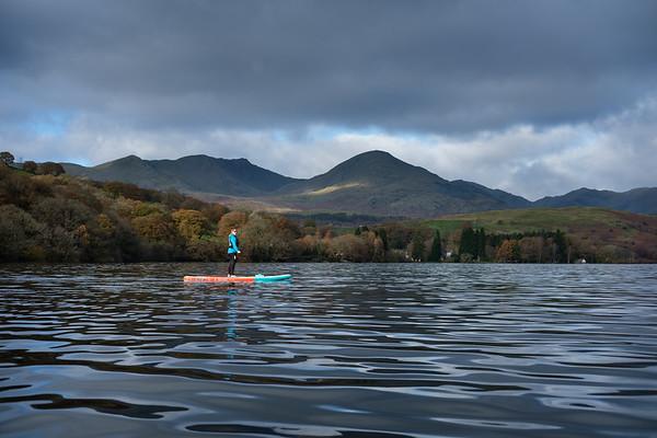Paddle boarding Coniston