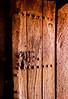 Old painting on door, Lalibela, Ethiopia