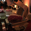 Best conference food ever. They brought a meat slicer for freshly sliced salami!