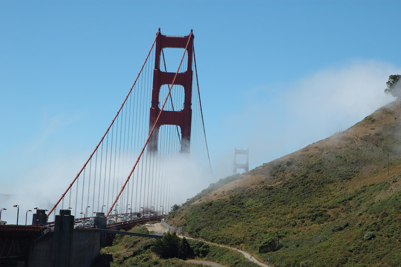 The Golden Gate bridge and the Marin headlands