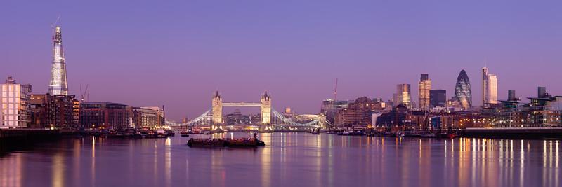 Dawn over London