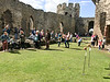 Teaching children the ancient arts of war at Conwy Castle