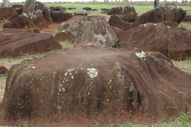 Well-worn stones