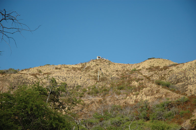 Looking up towards the top of Diamond Head